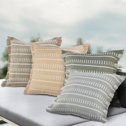 Dash Geometric Indoor Outdoor Throw Pillow