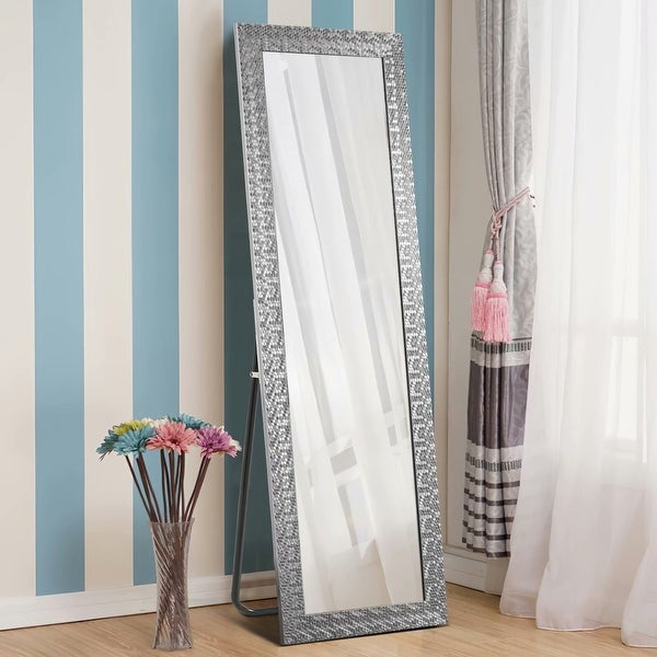 Sleek Style Thin Framed Full-Length Mirror Floor Mirror With Standing. Opens flyout.