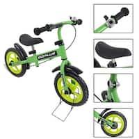 Goplus 12'' Green Kids Balance Bike Children Boys & Girls with Brakes and Bell Exercise