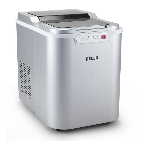 Della Portable Ice Maker Machine High Capacity, Yields up to 26 Pounds of Ice Daily -Silver