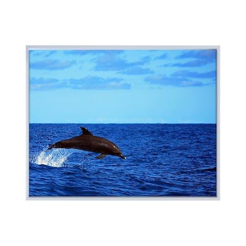 Ready2HangArt 'Dolphin' Framed Canvas Wall Art