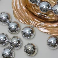 "32ct Silver Splendor Shatterproof Shiny Christmas Ball Ornaments 3.25"" (80mm)"