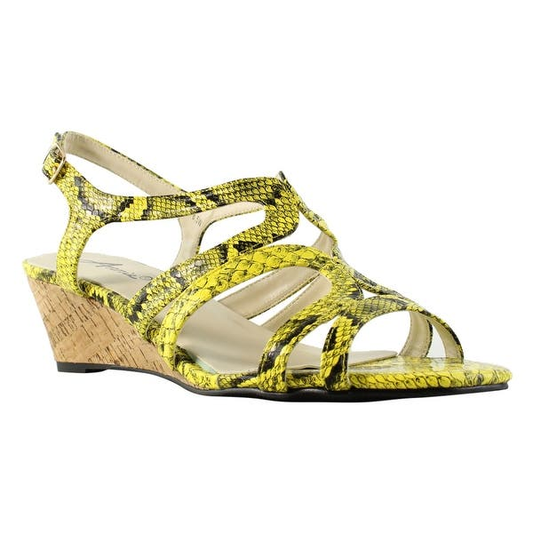 bb88c42db Shop Annie Shoes Womens Xf310-C5-W Yellow Sandals Size 8.5 (C