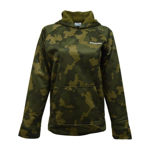 Columbia Junior's Camo Print Hoodie - Green - L
