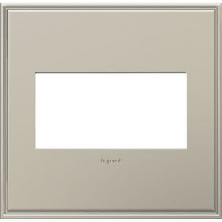 Legrand AWC2GAN4 adorne 2 Gang Metal Wall Plate - 6.56 Inches Wide