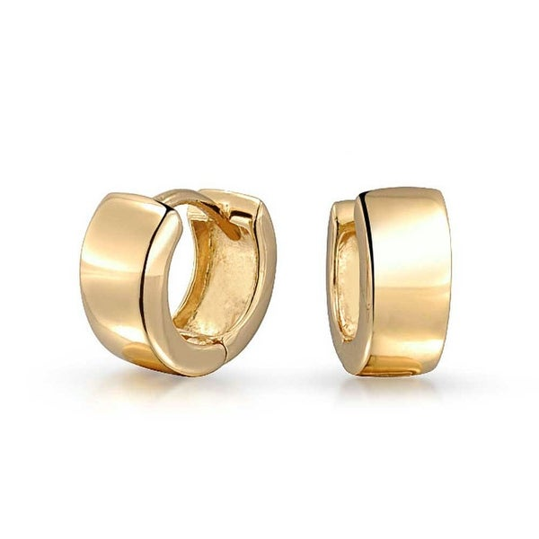 3f5939aa1 Bling Jewelry Gold Plated 925 Sterling Silver Wide Small Hoop Hoop Earrings
