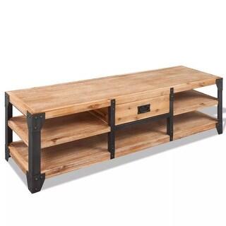 "vidaXL TV Stand Solid Acacia Wood 55.1""x15.7""x17.7"""