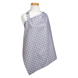 Trend Lab 102580 34 x 24 in. Diamond Nursing Cover, Gray & White