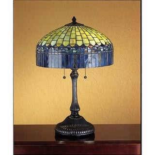 Meyda Tiffany 26322 Stained Glass / Tiffany Table Lamp from the Tiffany Candice Collection