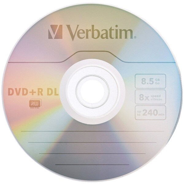Verbatim 95311 8.5Gb 8X Branded Azo Dvd+R Dls, 5 Pk With Slim Cases