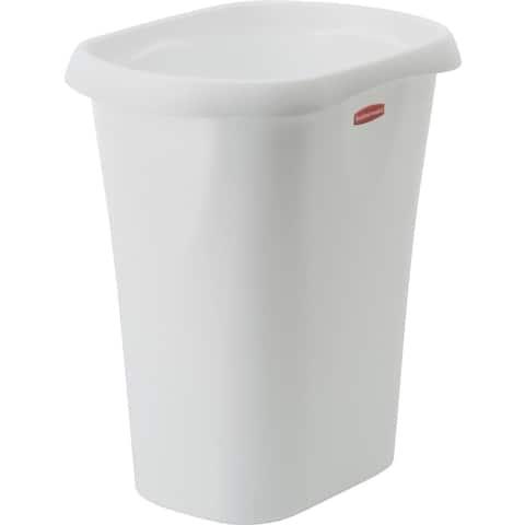 Rubbermaid 12Qt White Wastebasket