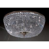 """Classic Lighting 52036-RB 15"""" Crystal Flushmount from the Crystal Baskets Collection"""