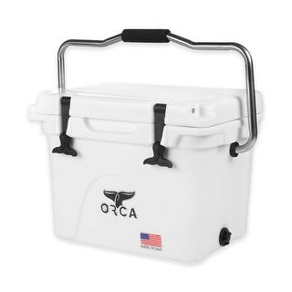 ORCA ORCW020 Durable Roto-Molded Cooler, White, 20-Qt Capacity