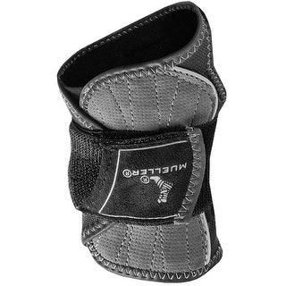 Mueller HG80 Premium Lightweight Neoprene-Free Wrist Brace - S/M - Black/Gray