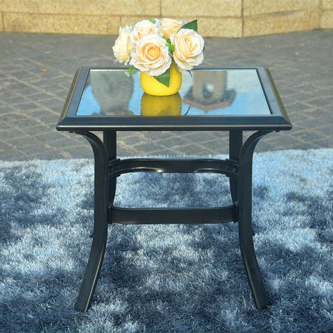 Patio Steel Side Table, Perfect for Balcony