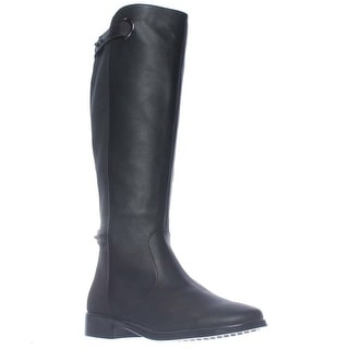 Aerosoles One Wish Expandable Calf Knee-High Riding Boots - Black