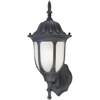 Westinghouse 66826 One-Light Outdoor Wall Lantern, Textured Black Finish