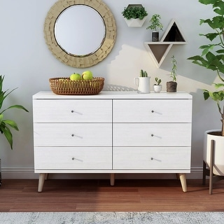 Link to Carson Carrington Gjovik Modern White 6-drawer Dresser Similar Items in Bedroom Furniture