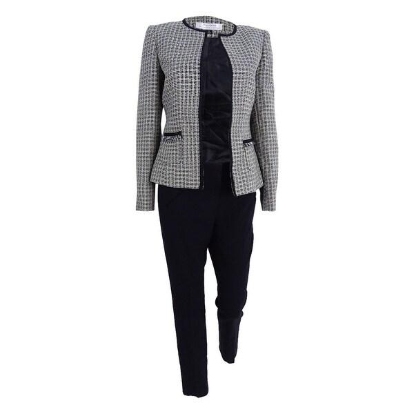 good popular design coupon code Shop Tahari ASL Women's Flyaway Tweed Pantsuit (2, Citron ...