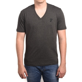 Versace Collection Men Medusa V-Neck Tee T-Shirt Grey