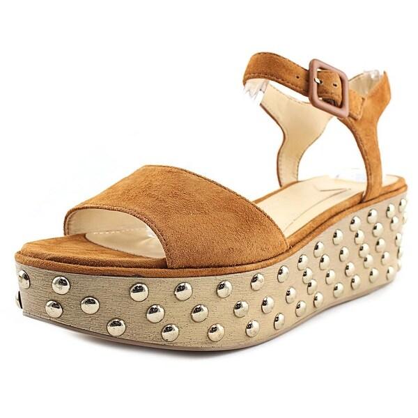 Brian Atwood Franki Women Open Toe Suede Tan Platform Sandal