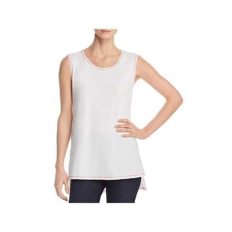 Eileen Fisher Womens Tunic Top Organic Cotton Sleeveless