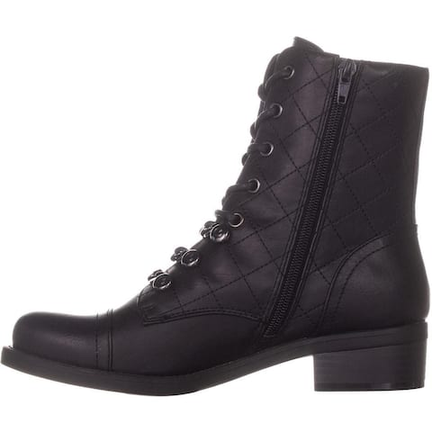 G by Guess Womens Meera2 Closed Toe Mid-Calf Combat Boots