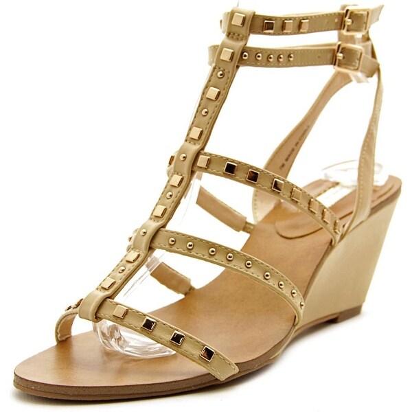 INC International Concepts Windye Women Open Toe Synthetic Tan Wedge Sandal