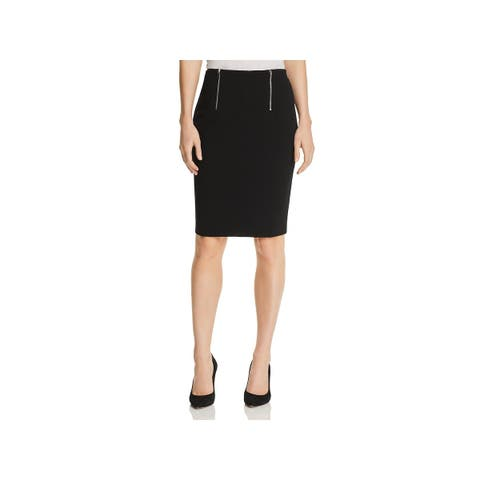 BOSS Hugo Boss Womens Pencil Skirt Double Zipper Knee-Length