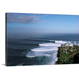 Premium Thick-Wrap Canvas entitled Waves in the sea