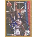 Andrew Lang Philadelphia 76ers 1992 Fleer Autographed Card Nice Autograph This item comes with a