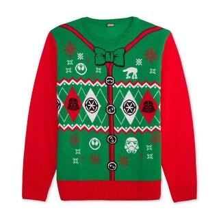 Star Wars Green Mens Size Medium M Arche Gyle Holiday Sweater