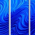 Statements2000 Blue Modern Abstract Metal Wall Art Painting by Jon Allen - Blue Hypnotic Sands - Thumbnail 4