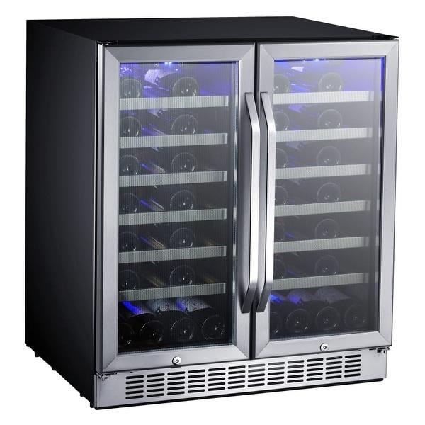 EdgeStar CWR5631FD Built-In 30 Inch Wide 56 Bottle Capacity French Door Wine Cooler with Door Locks