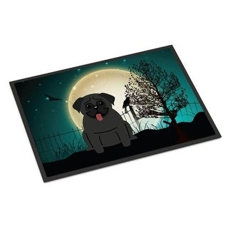 Carolines Treasures BB2196MAT Halloween Scary Pug Black Indoor or Outdoor Mat 18 x 0.25 x 27 in.
