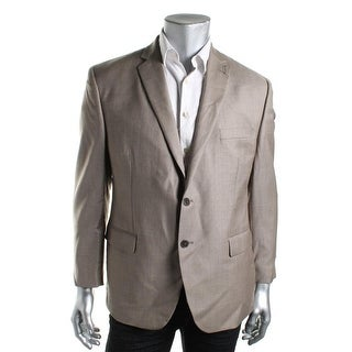Calvin Klein Mens Wool Slim Fit Two-Button Blazer - 40S