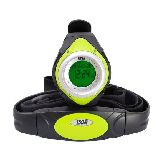 Heart Rate Monitor Watch W/Minimum, Average Heart Rate, Calorie Counter, and Target Zones(Green Color)