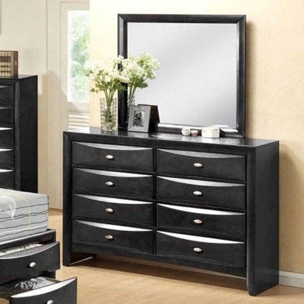 8 Drawers Storage Mirror Standard Dresser Chest