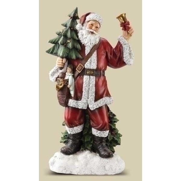 "30"" Joseph's Studio Bell Ringing Santa Claus Christmas Statue - multi"