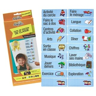 French Prek/K Class Daily Schedule Visual