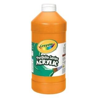 Crayola Portfolio Non-Toxic Acrylic Paint, 1 pt Squeeze Bottle, Brilliant Orange