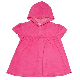 Solo International Little Girls Fuchsia Hooded Cover Up 6