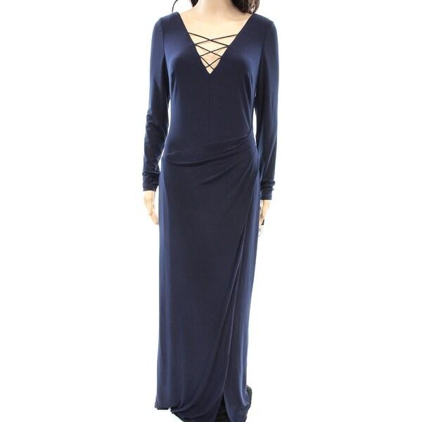 7e696e8d2de Shop Lauren Ralph Lauren NEW Blue Women s Size 6 Strappy Maxi Dress - Free  Shipping Today - Overstock - 18353331