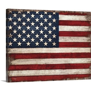 """""""Distressed American Flag"""" Canvas Wall Art"""