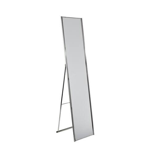 "Adesso WK2444-22 Alice 59"" Tall Floor Mirror - Satin Steel"
