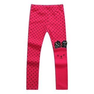 Richie House Girls' Asymmetric Happy Bunny Pants