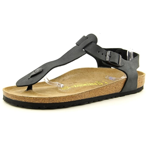 Birkenstock Kairo Men N Open Toe Leather Black Thong Sandal