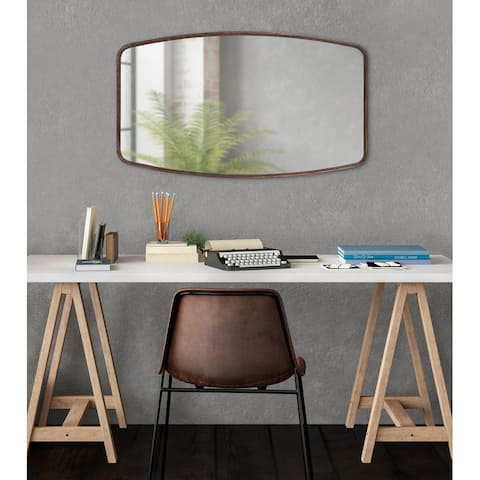 Kate and Laurel Caskill Barrel Framed Wall Mirror