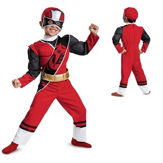 Red Ranger N Steel Muscle Chest Costume Costume