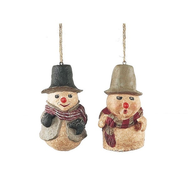 Set of 24 Christmas Traditions Festive Snowman Christmas Ornaments 4""